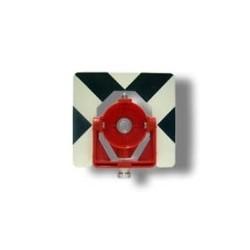 Πλαστική υποδοχή πρίσματος (πορτοκαλί) με μεταλλικό στόχο