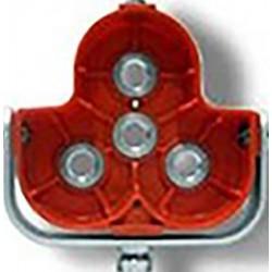 Μεταλλική υποδοχή τριπλού πρίσματος (πορτοκαλί)